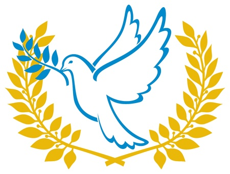 Dove of Peace symbol Vector