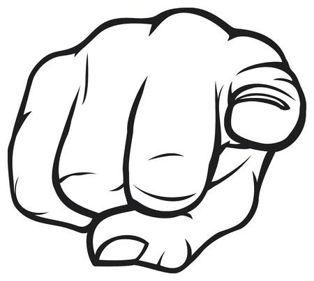montrer du doigt: La main de pointage Illustration