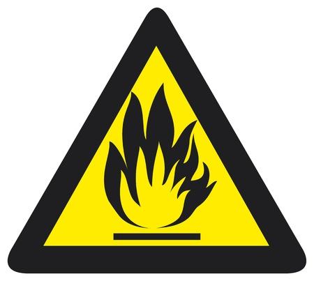 なでる: 火災危険の記号