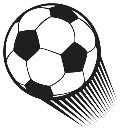 vector de la bola del balompié del fútbol