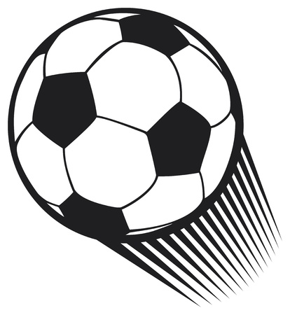 pelota de futbol: vector de la bola del balompi� del f�tbol