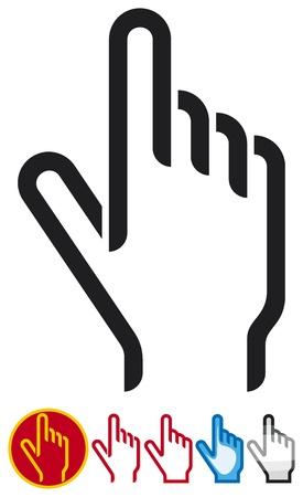 mouse click: hand cursor