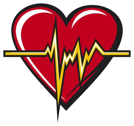 Heart beats Vector