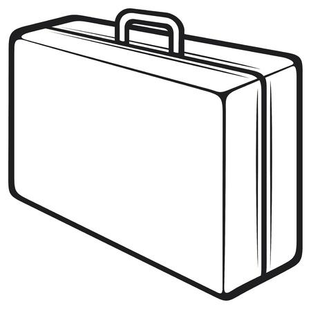 luggage bag: travel suitcase Illustration