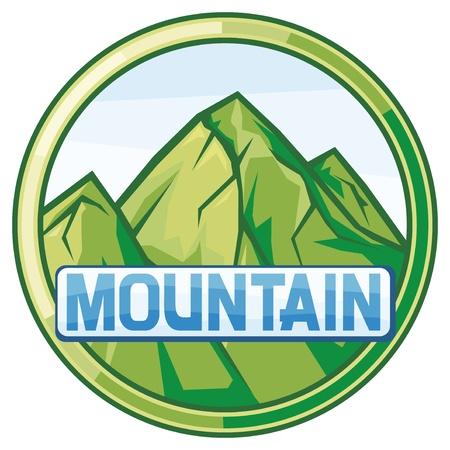 vector illustration of mountain landscape Vector