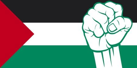 palestine: Palestine fist  Flag of Palestine