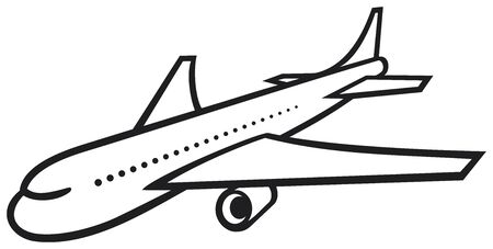 vector plane  airliner  Stock Vector - 20859359