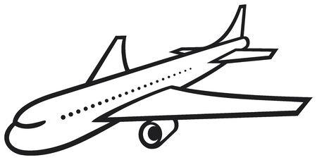 vector plane  airliner Stock Vector - 20859359