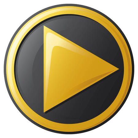 Play icon button Stock Vector - 20859362