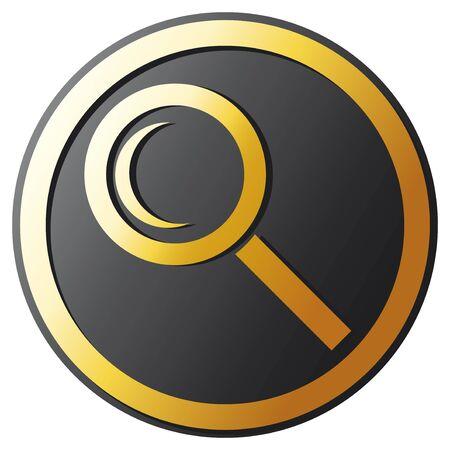search button  magnifier Stock Vector - 20859379