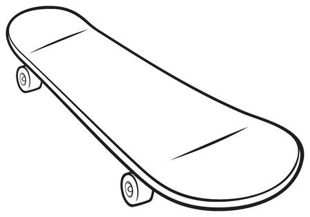 skate board: Skateboard Vector