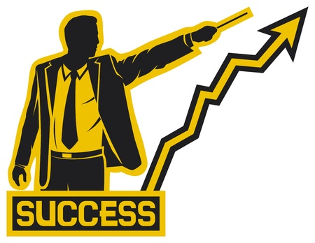 succesvolle zakenman succes