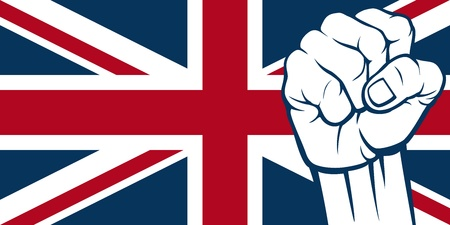 United Kingdom fist  Flag of United Kingdom of Great Britain and Northern Ireland  Vector