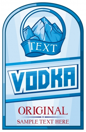 vodka label design Vector