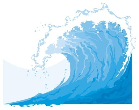 바다 바다 물결 일러스트
