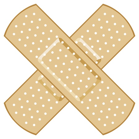 bandages: adhesive bandage Illustration