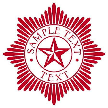 star order  police badge  Illustration