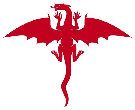 red dragon Illustration