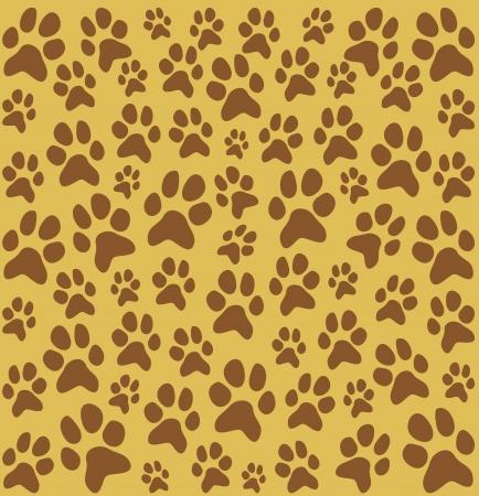 cat footprint seamless pattern  dog paw footprints seamless pattern  Vector