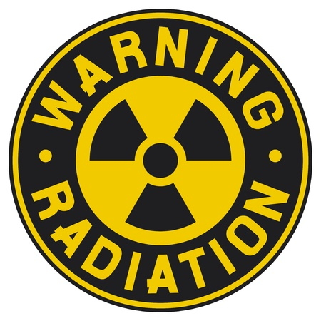 caution chemistry: symbol of radiation