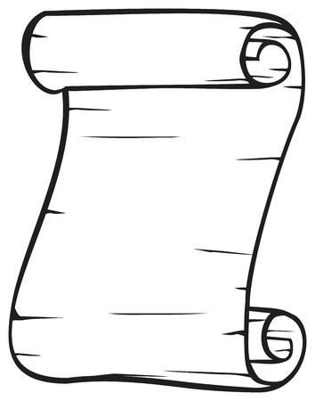 Altes Papier Vektor alten Rolle Standard-Bild - 20859509