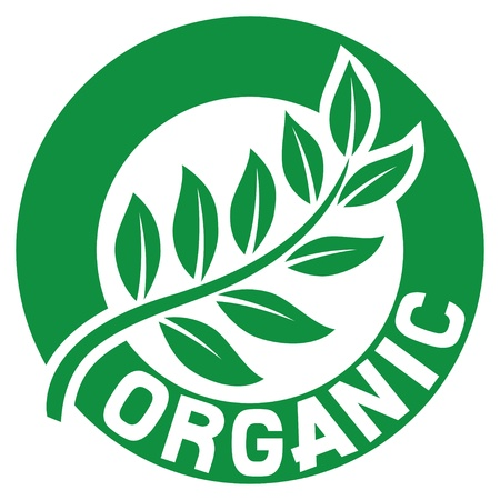 certified: leaf, organic sign  seal, symbol