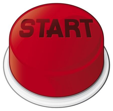Start button Stock Vector - 20859520