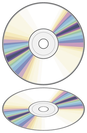 compact disk: vector CD  Compact disc