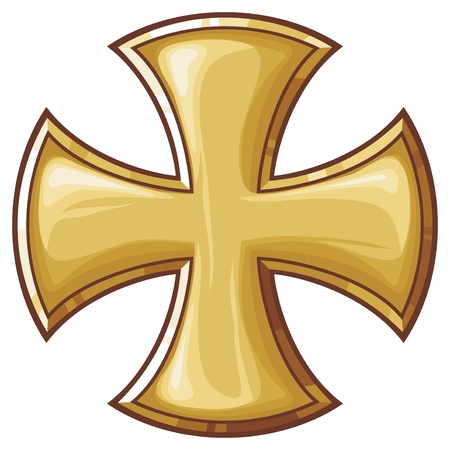iron cross: golden cross
