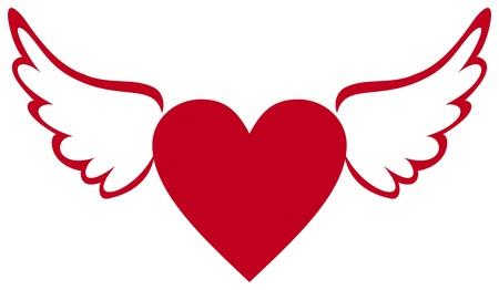 Hart met vleugels