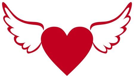 heart wings: Heart with wings