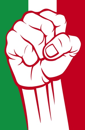 italy fist Stock Vector - 21061197