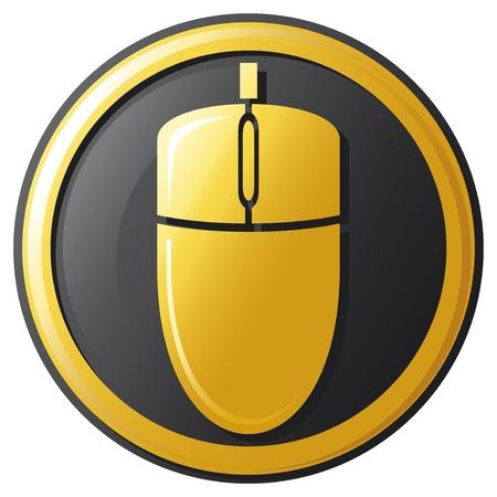 mouse icon  button Stock Vector - 21061205