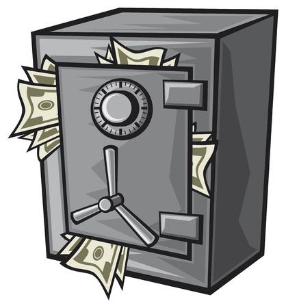 safe vault Vector