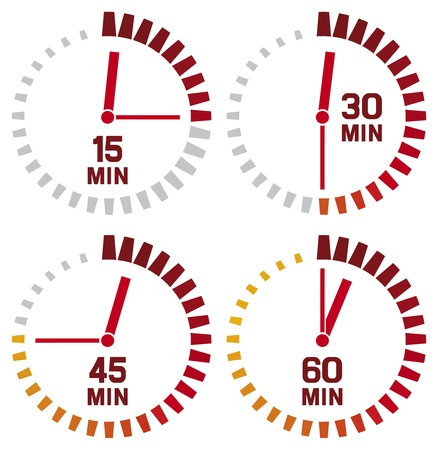reminder icon: clock icons