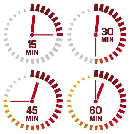 cronometro: iconos de reloj Vectores