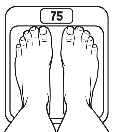 slink: feet on the scale Illustration