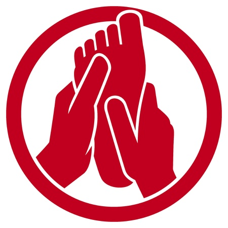 massage symbol: foot massage symbol