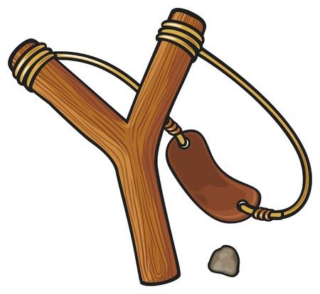 projectile: wooden slingshot