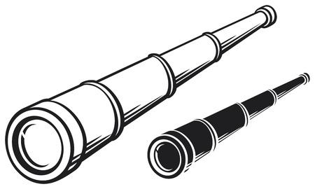 Lorgnette illustration d'un télescope Banque d'images - 21060574