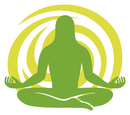 man figure meditating symbol Stock Vector - 21060541