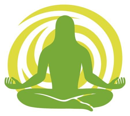 man meditating: man figure meditating symbol