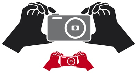 camera in hands Stock Vector - 21060508