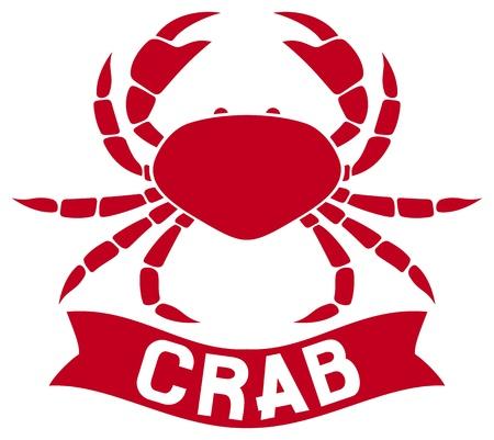 crabby: crab label Illustration