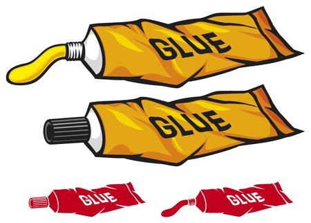 pegamento: tubo de pegamento Vectores
