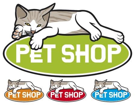 forage: pet shop label Illustration