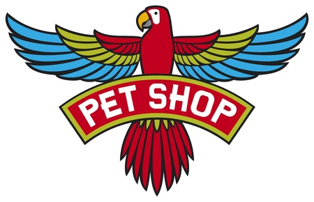 tienda de animales: etiqueta de tienda de mascotas