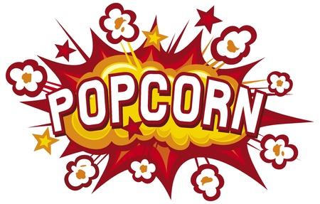 pop corn: popcorn design Illustration