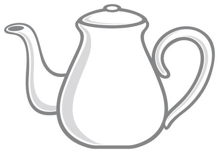 afternoon tea: white teapot