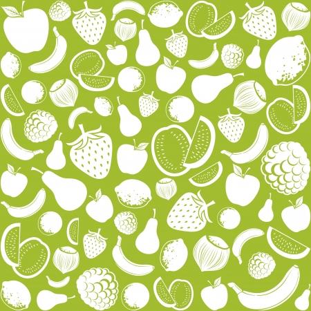 exotic fruit: seamless pattern with fruit  fruits background, seamless fruits pattern, fruits seamless background, apple, strawberry, pear, lemon, orange, watermelon, banana, hazelnut